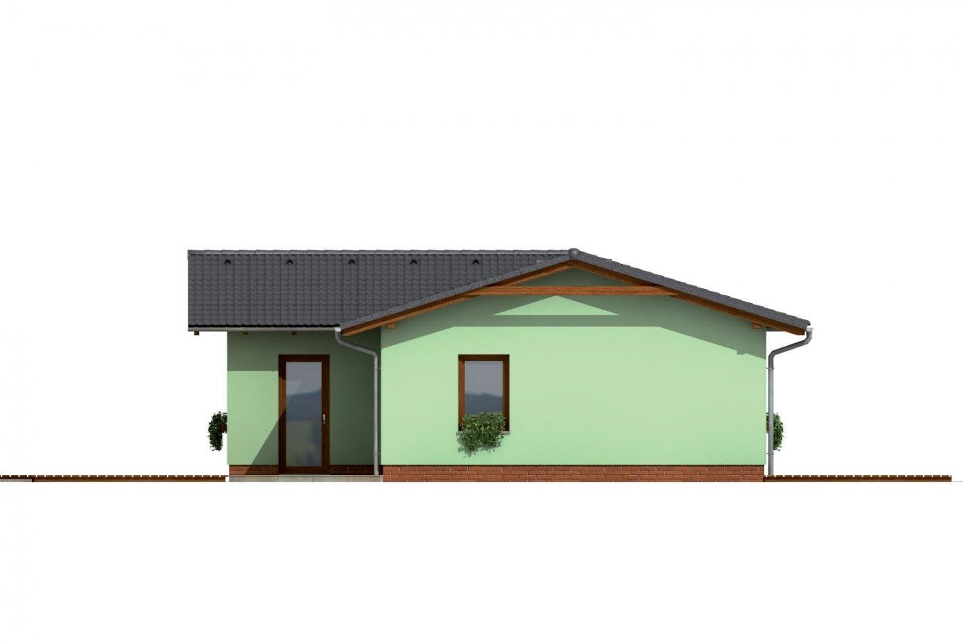 Pohľad 3. - Dom do L so sedlovou strechou