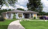 Dom v tvare L s garážou a terasou