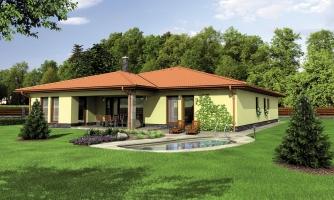 Exkluzívny bungalov s dvomi garážami.