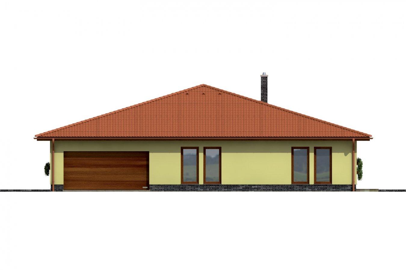 Pohľad 2. - Exkluzívny bungalov s dvomi garážami.