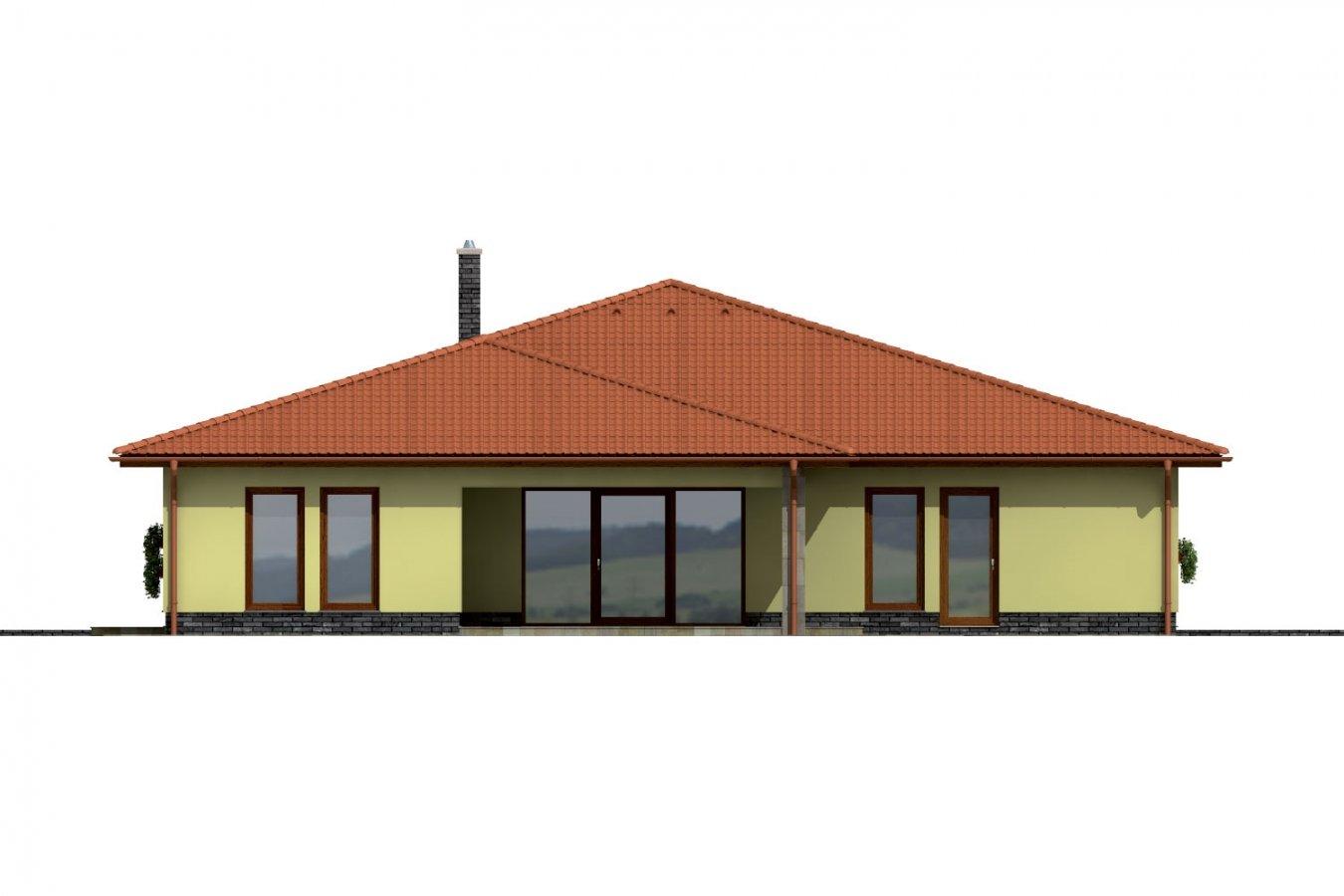 Pohľad 4. - Exkluzívny bungalov s dvomi garážami.