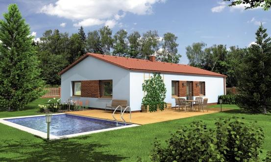 projekt domu BUNGALOW 121