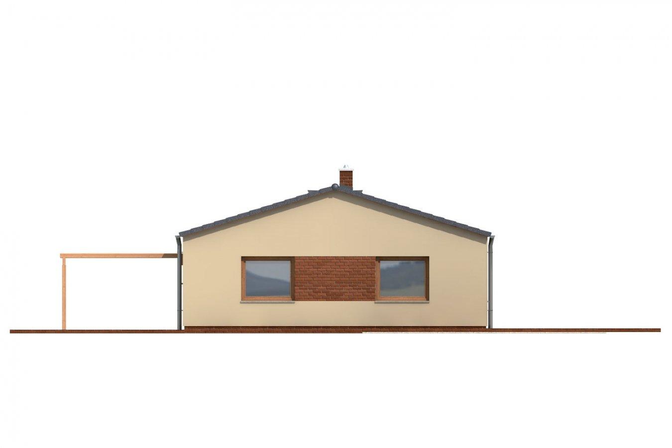 Pohľad 2. - Jednoduchý úzky 4-izbový rodinný dom.