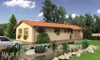 Dom so sedlovou strechou vhodný na úzky pozemok.