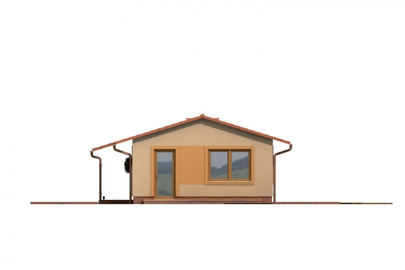 Pohľad 4. - Dom so sedlovou strechou vhodný na úzky pozemok.