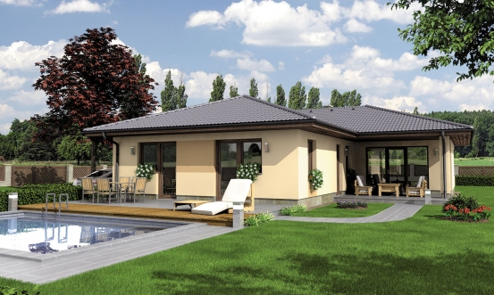 projekt domu BUNGALOW 123