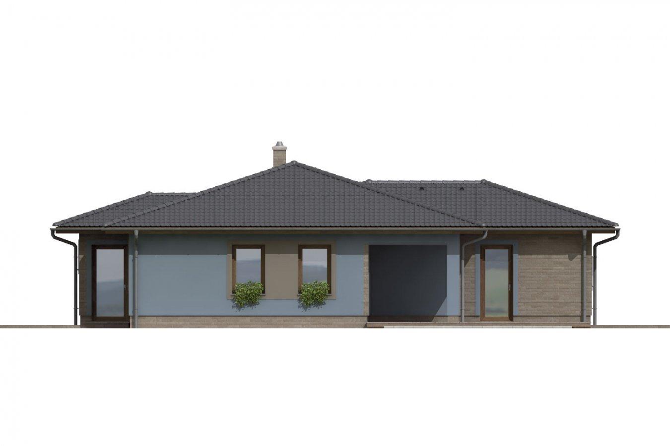 Pohľad 3. - Dom v tvare L s garážou. Možnosť realizácie aj bez garáže.