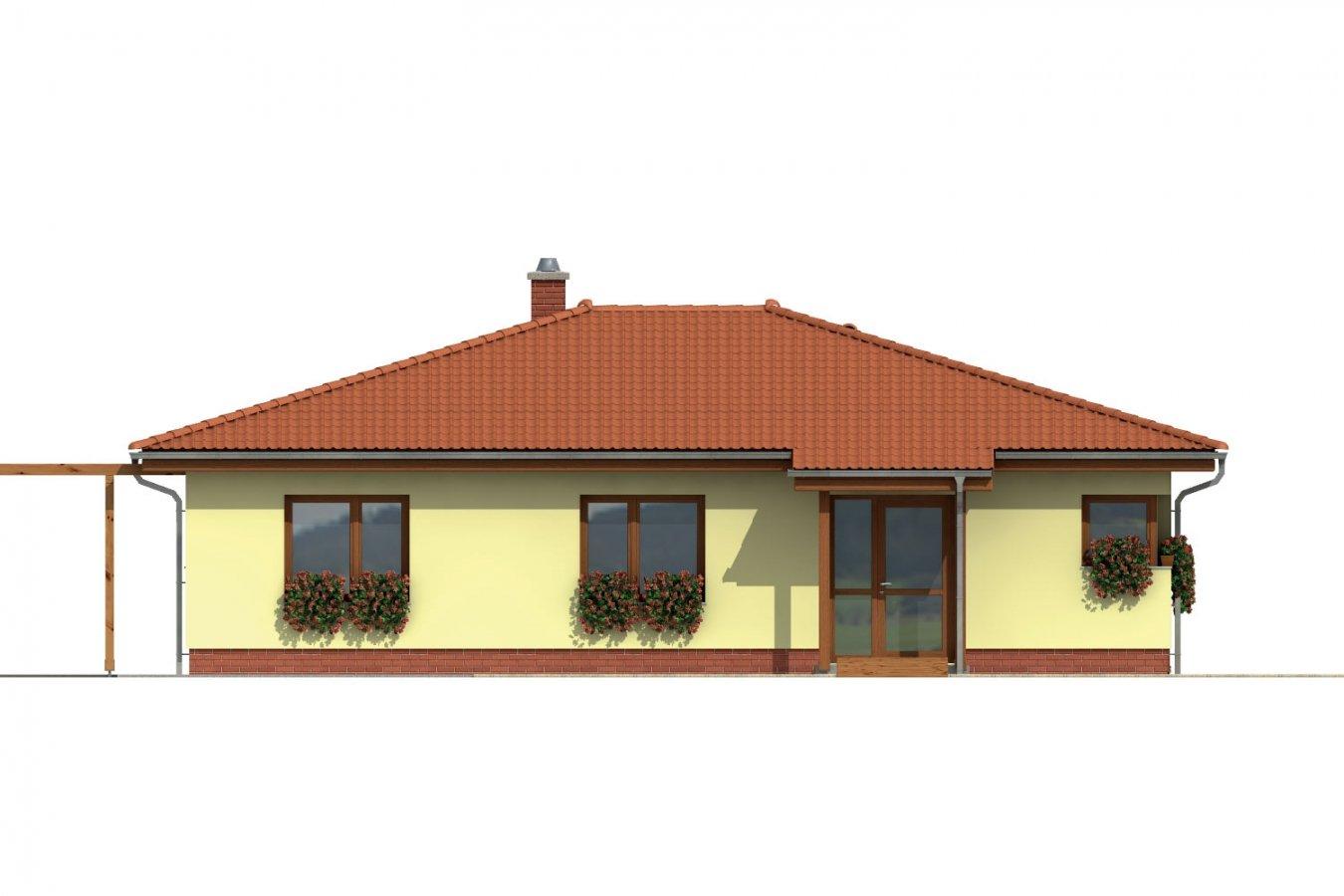 Pohľad 1. - Dom s terasou do záhrady
