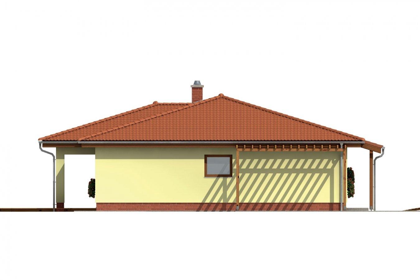 Pohľad 2. - Dom s terasou do záhrady