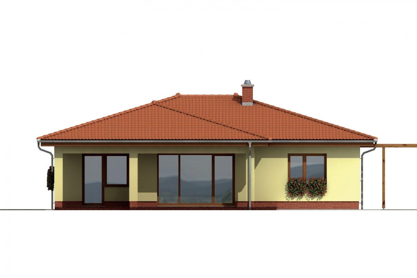 Pohľad 3. - Dom s terasou do záhrady