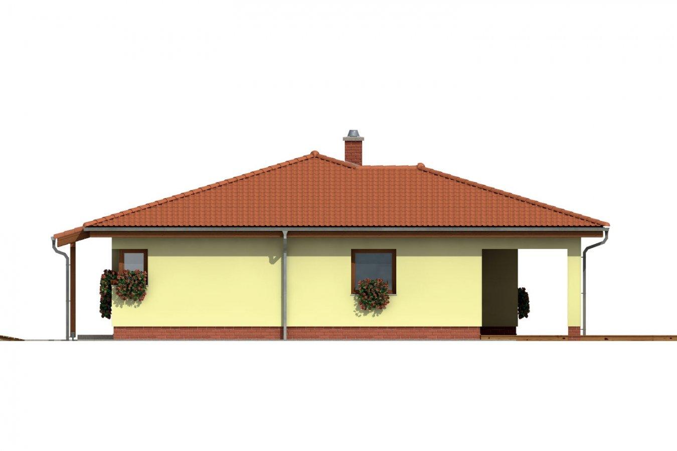 Pohľad 4. - Dom s terasou do záhrady