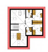 Pôdorys poschodia - BUNGALOW 128