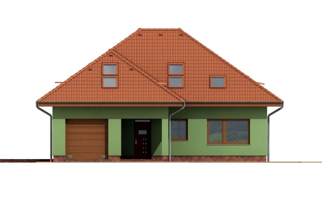 Pohľad 1. - Dom s garážou a podkrovnými izbami