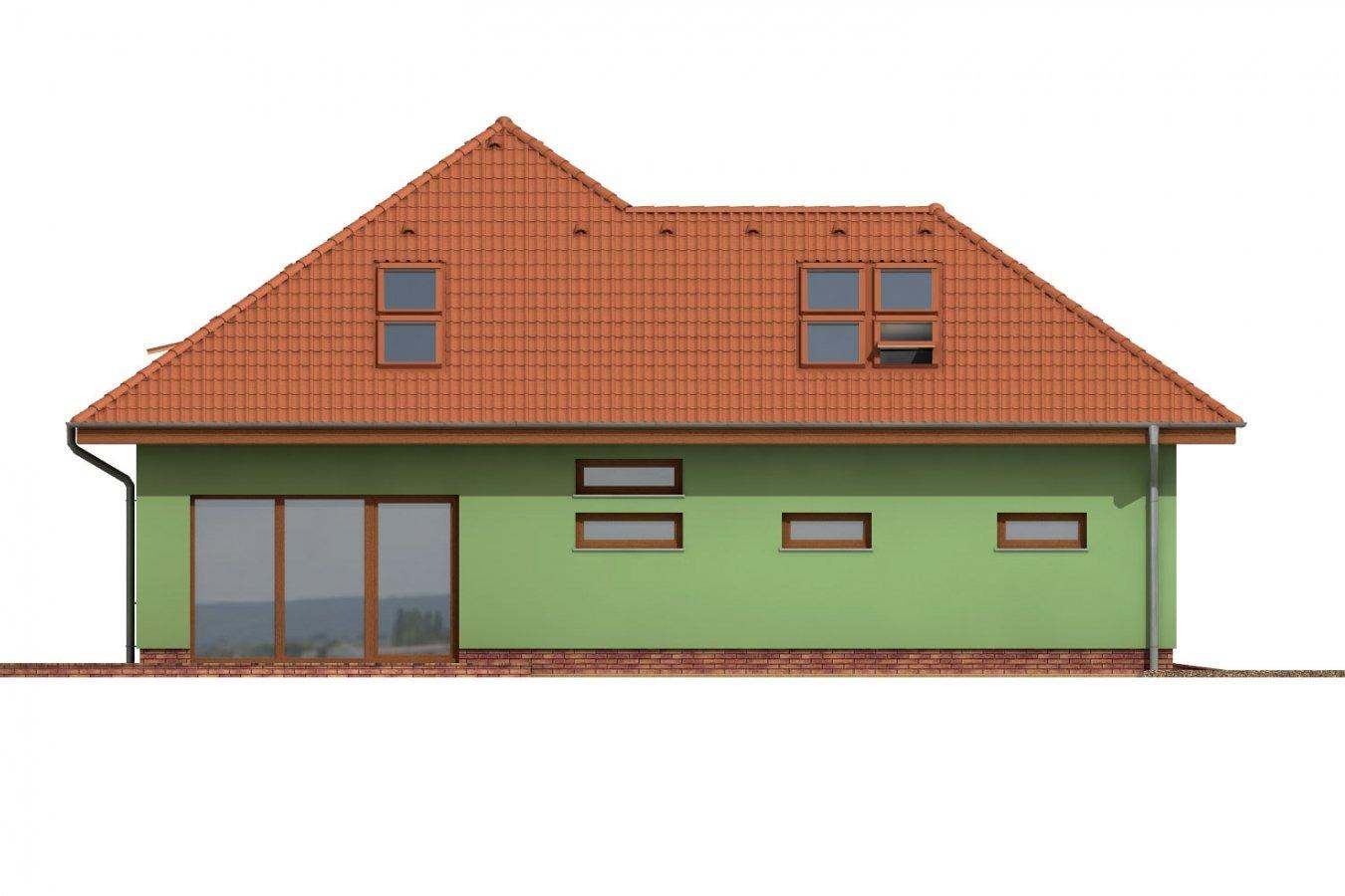 Pohľad 2. - Dom s garážou a podkrovnými izbami