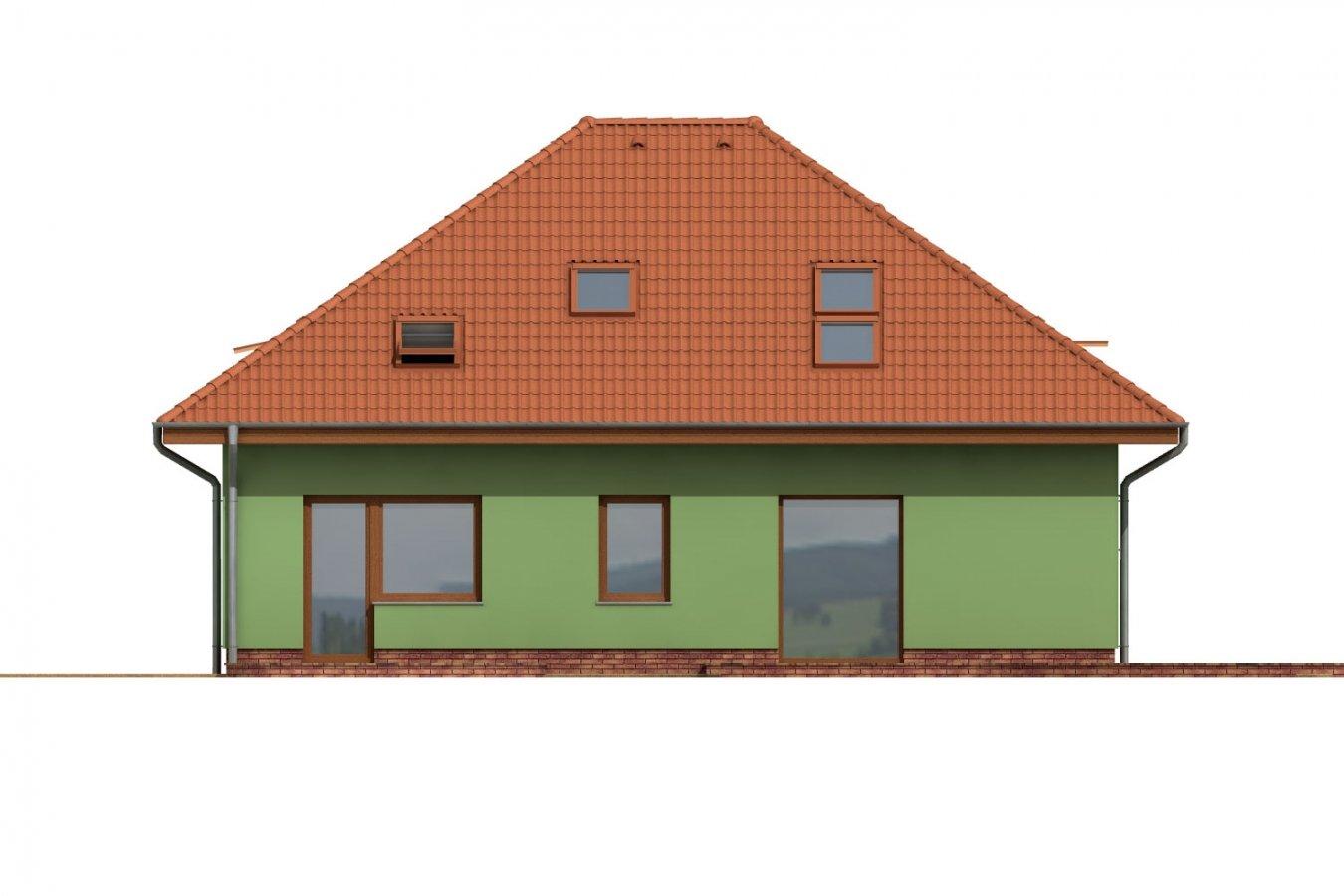 Pohľad 3. - Dom s garážou a podkrovnými izbami