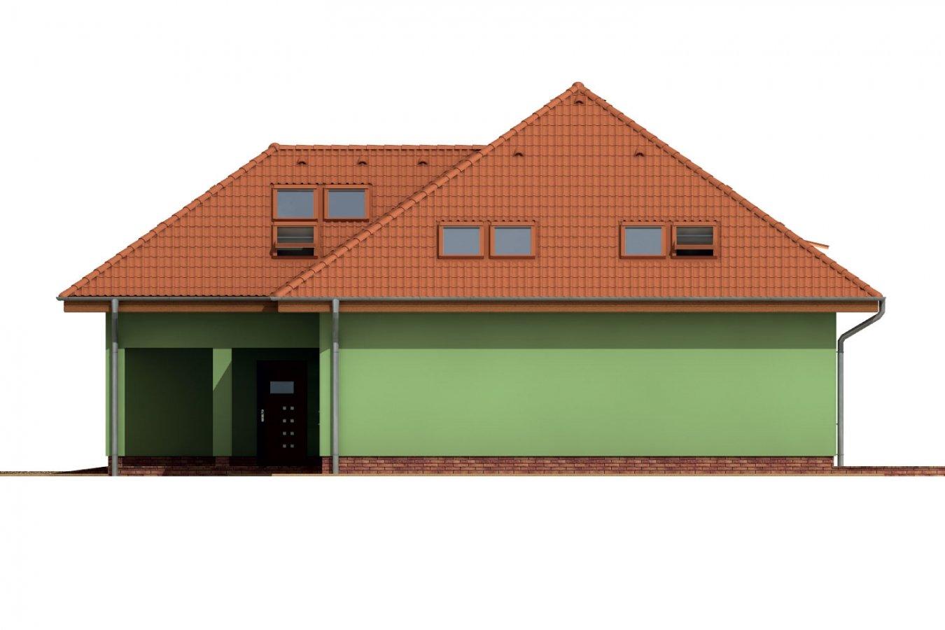 Pohľad 4. - Dom s garážou a podkrovnými izbami