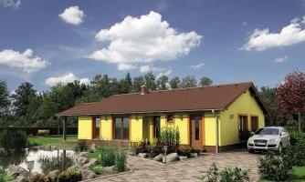 Bezbariérový rodinný dom bez garáže.