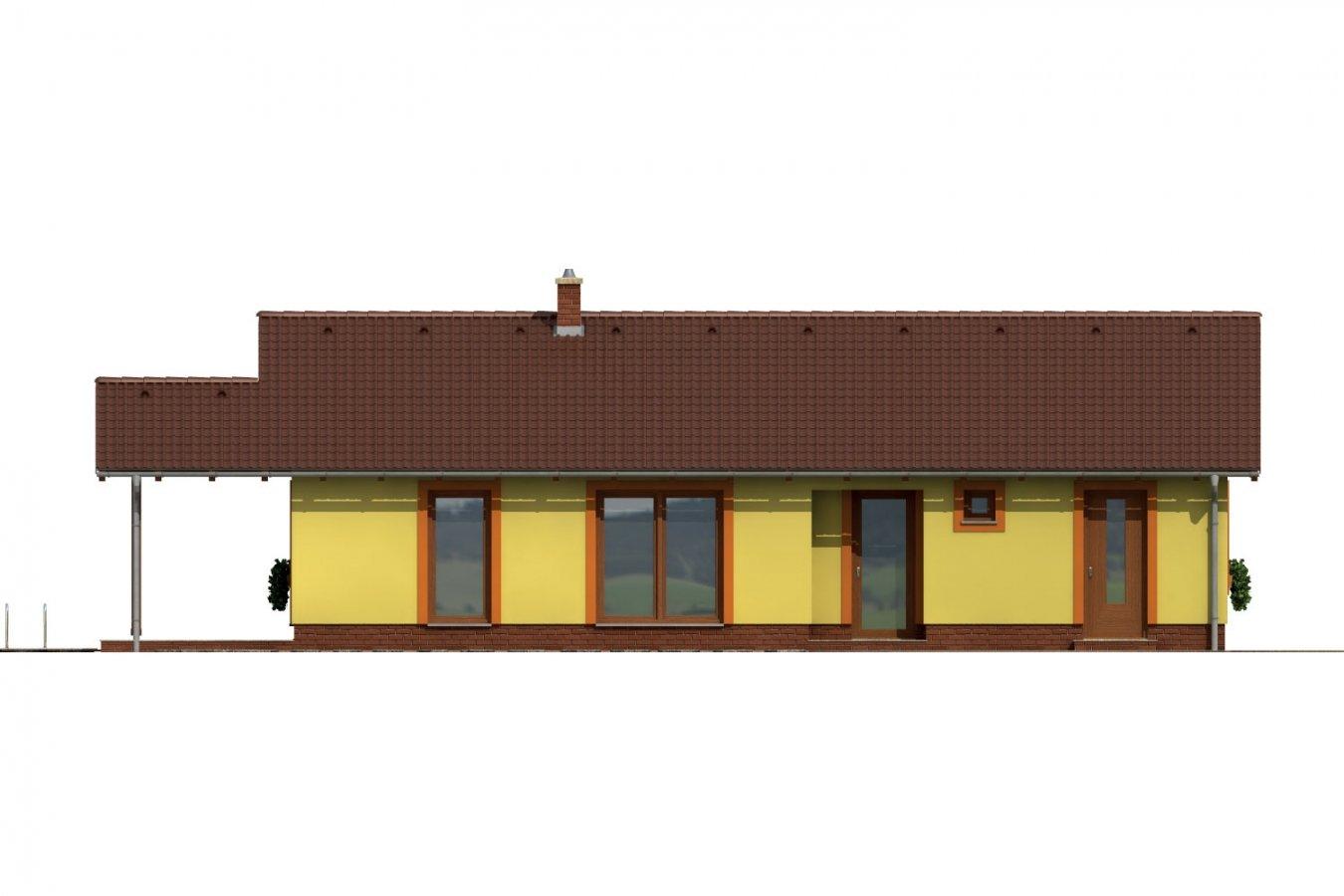 Pohľad 1. - Bezbariérový rodinný dom