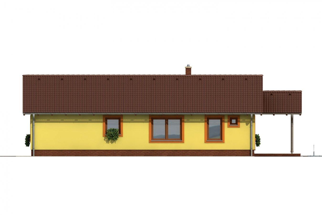 Pohľad 3. - Bezbariérový rodinný dom