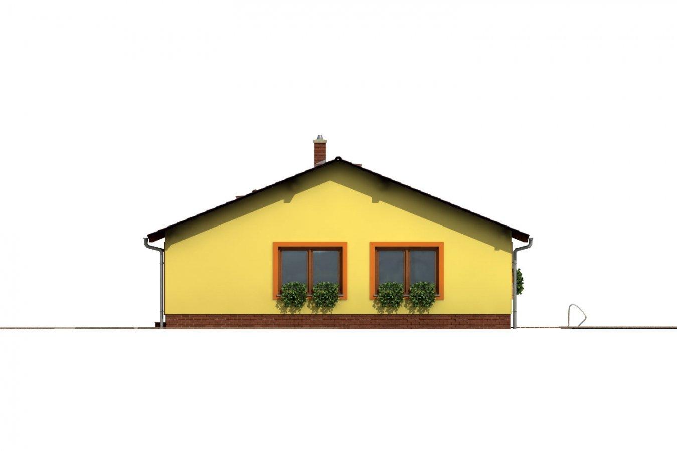 Pohľad 4. - Bezbariérový rodinný dom