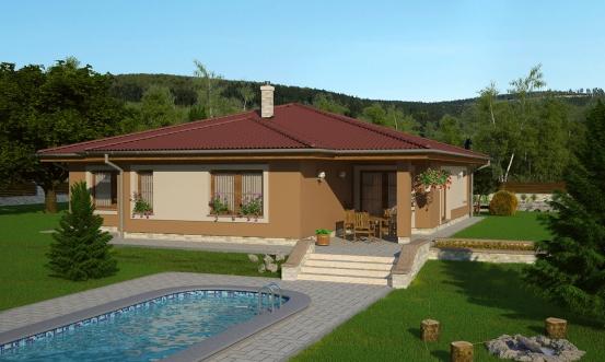 projekt domu BUNGALOW 132