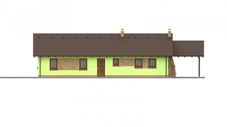 Pohľad 1. - 4-izbový bungalov s presvetlenou obývacou izbou strešnými oknami.