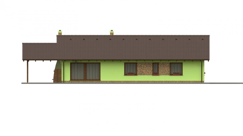 Pohľad 3. - 4-izbový bungalov s presvetlenou obývacou izbou strešnými oknami.
