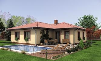 Jednoduchý dom do tvaru L.