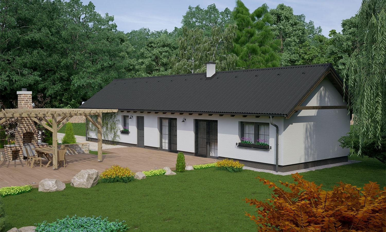 projekt domu BUNGALOW 136