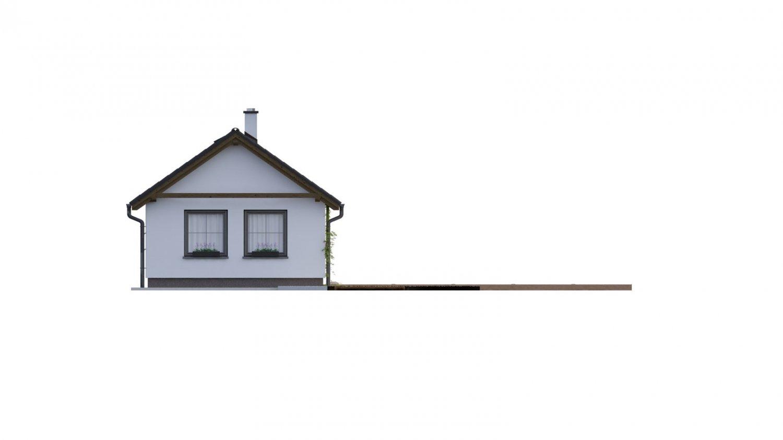 Pohľad 4. - Dom vhodný na úzky pozemok vo vidieckom štýle.