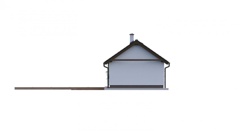 Pohľad 2. - Dom vhodný na úzky pozemok vo vidieckom štýle.