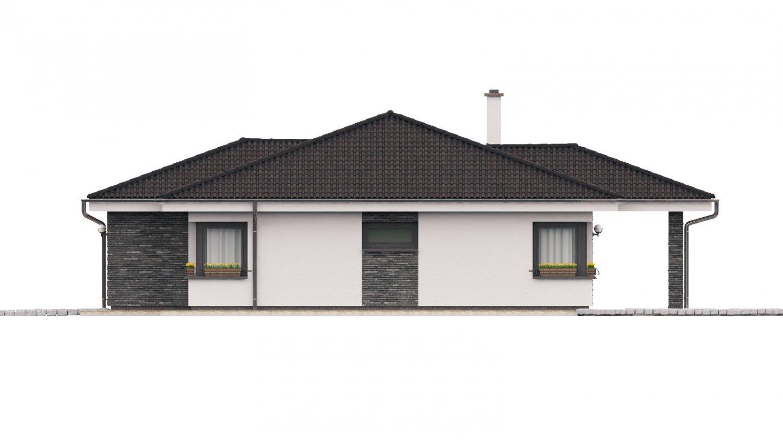 Pohľad 4. - Dom na široký pozemok s terasou