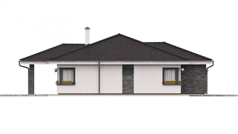 Pohľad 2. - Dom na široký pozemok s terasou