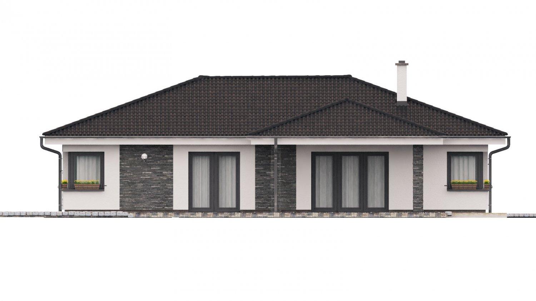Pohľad 3. - Dom na široký pozemok s terasou