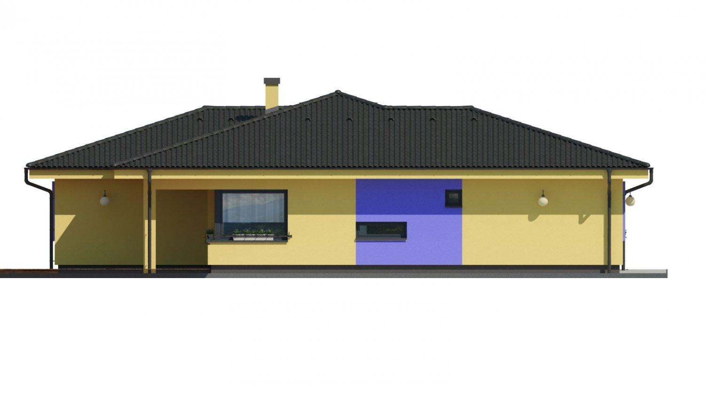 Pohľad 4. - Projekt v tvare L s dvoma garážami.