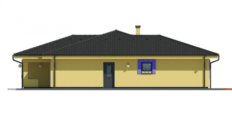 Pohľad 2. - Projekt v tvare L s dvoma garážami.