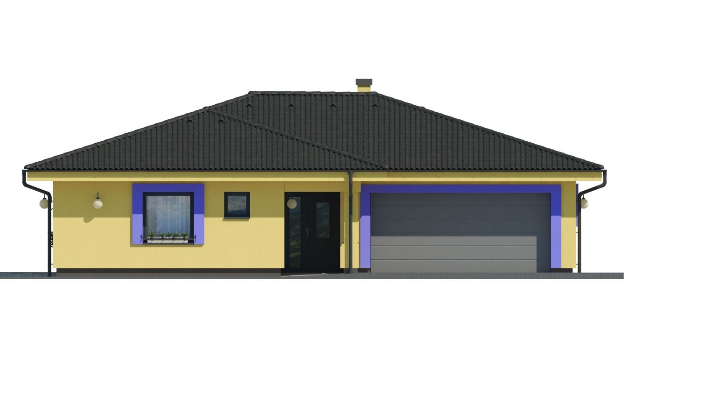 Pohľad 1. - Projekt v tvare L s dvoma garážami.