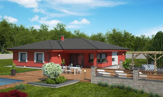 projekt domu BUNGALOW 138