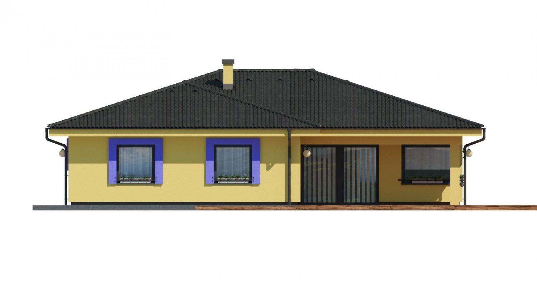 Pohľad 3. - Projekt v tvare L s dvoma garážami.