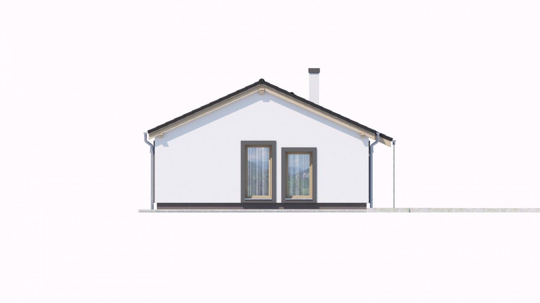 Pohľad 4. - Projekt domu na malý pozemok.