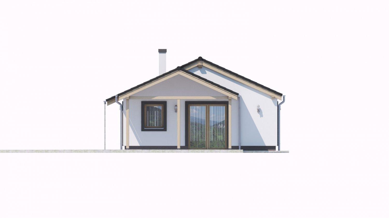 Pohľad 2. - Projekt domu na malý pozemok.