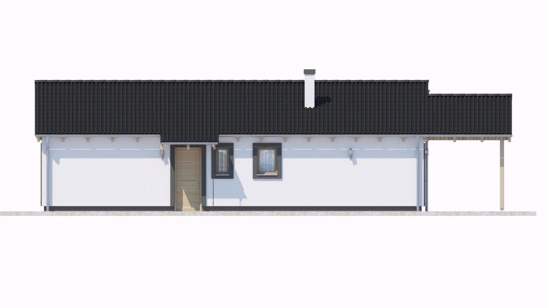 Pohľad 1. - Projekt domu na malý pozemok.