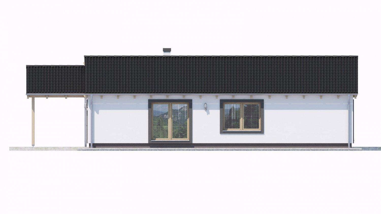 Pohľad 3. - Projekt domu na malý pozemok.