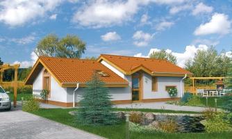 Lacný projekt rodinného domu na úzky pozemok. Patrí medzi top 10 projektov.