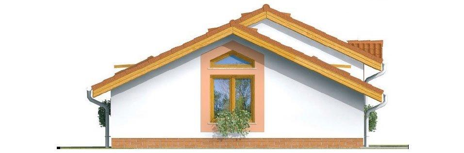 Pohľad 4. - Lacný projekt rodinného domu na úzky pozemok. Patrí medzi top 10 projektov.