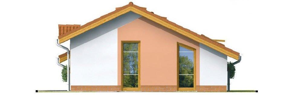 Pohľad 2. - Lacný prízemný rodinný dom na úzky pozemok, patrí medzi top 10 projektov