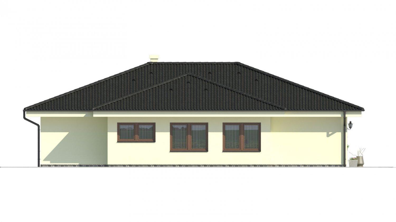 Pohľad 4. - Projekt rodinného domu pre 5-6 člennú rodinu.