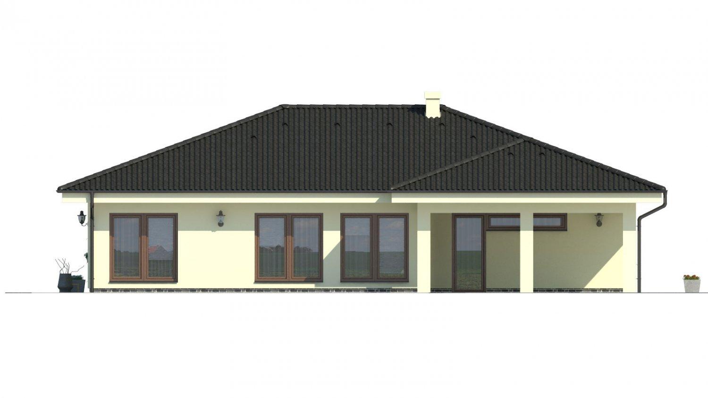 Pohľad 2. - Projekt rodinného domu pre 5-6 člennú rodinu.