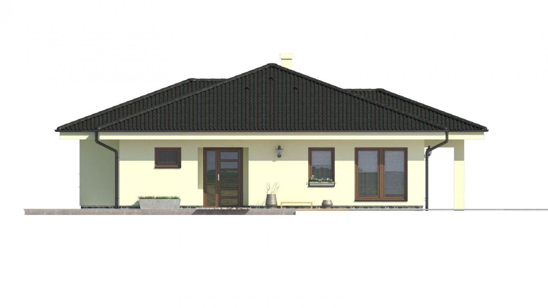 Pohľad 1. - Projekt rodinného domu pre 5-6 člennú rodinu.