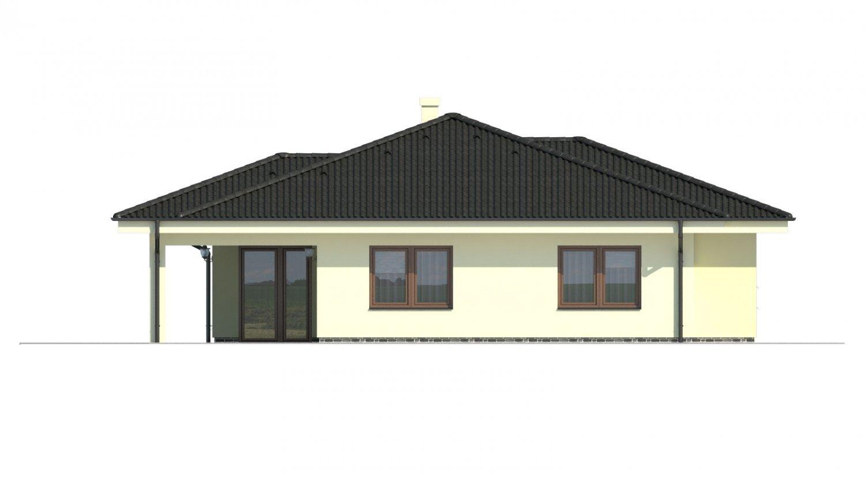 Pohľad 3. - Projekt rodinného domu pre 5-6 člennú rodinu.